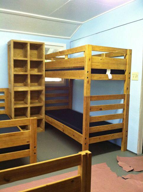 #campfurniture by Jess Crate Furniture #woodbunkbeds #cubbies #JessCrateFurniture