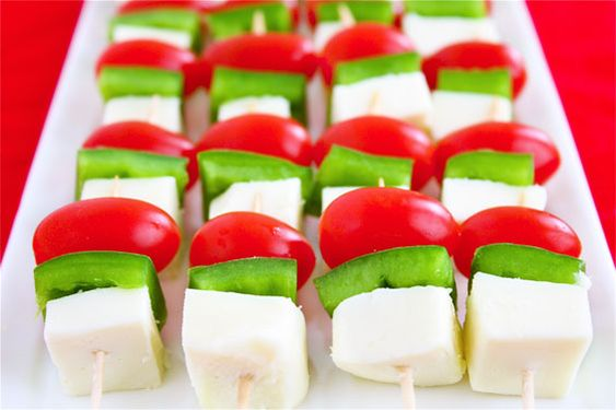 Simple red & green party food.  Added bonus... it's low calorie.