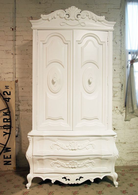 painted cottage chic shabby french armoire painted. Black Bedroom Furniture Sets. Home Design Ideas
