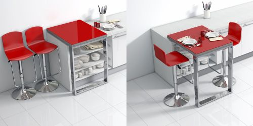 Plan de travail mercury and cuisine on pinterest for Solutions petites cuisines