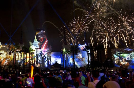 Star Wars: A Galactic Spectacular Fireworks And Projection Show At Disney's Hollywood Studios