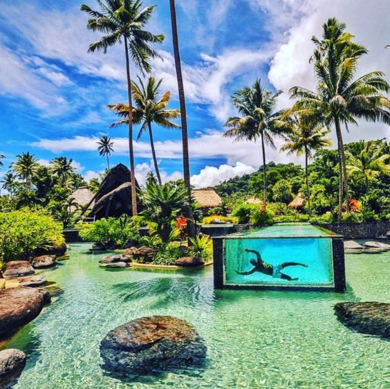 Laucala Island Resort's pool is perhaps the most photographed in Fiji - we wonder why?