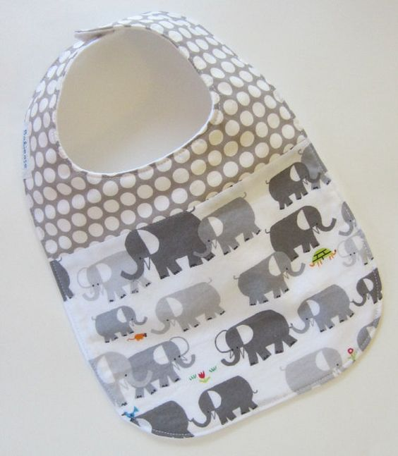 This shop has the cutest bibs/burp clothes  (ORGANIC Baby Bib  Elephants Spot On / Babiease Baby by Babiease, $12.00)