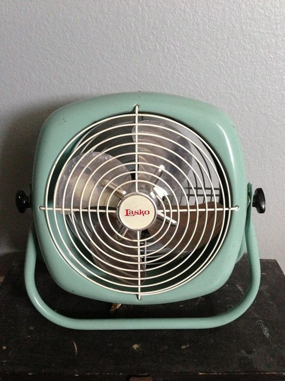 Antique Vintage Lasko Electric Round Industrial Floor Fan