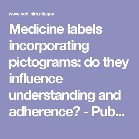 Medicine labels incorporating pictograms: do they influence understanding and adherence? - PubMed - NCBI
