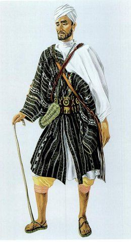 Costume traditionnel d'un homme de Gzenaya