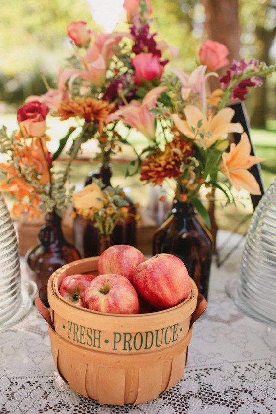 65 budget savvy apples wedding ideas for fall weddings pinterest apples are amazing for including them into fall and winter weddings especially rustic ones apples are great for dcor for the aisle centerpieces junglespirit Image collections