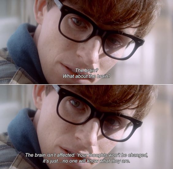 -the theory of everything This scene is so heartbreaking, because think of all his idea, his thoughts, the influence he has had and he knows that those thoughts will never get out