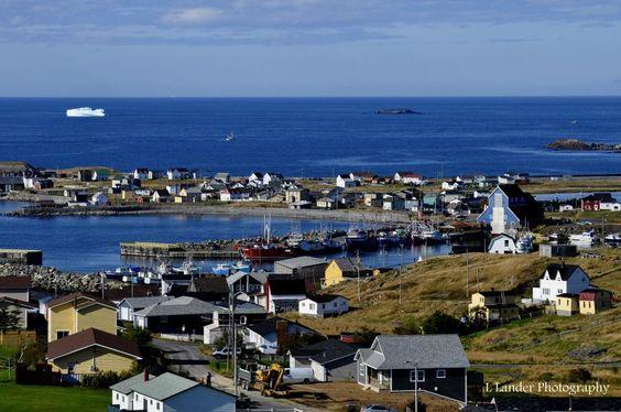 Bonavista, Newfoundland, Canada (Iceberg in the background)