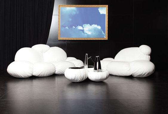 Sofá de diseño en forma de nube