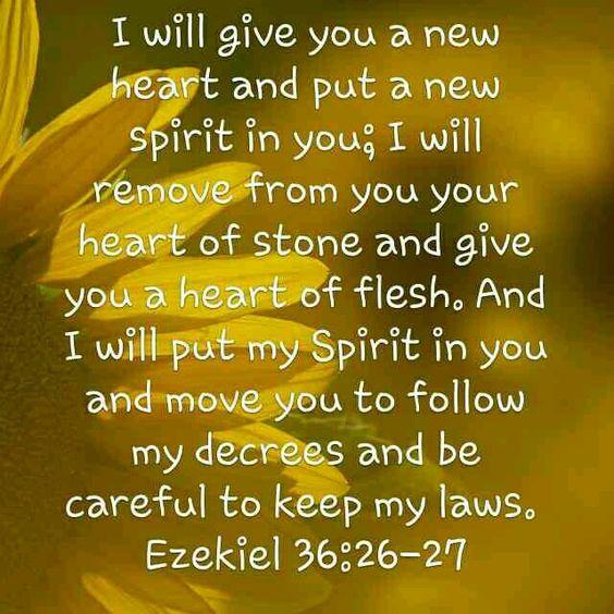 Ezekiel 36: 26 & 27