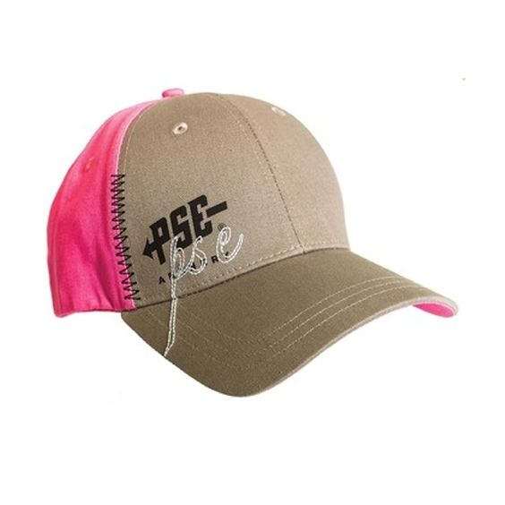 PSE Archery Ladies Structured Hat (Pink/Gray) 41820