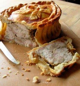 Old English Raised Chicken and Ham Pie #savorypie #raisedpie #chickenpie