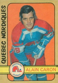 1972-73 O-Pee-Chee 324. The rookie card and only major hockey card ever produced of Alain Caron.