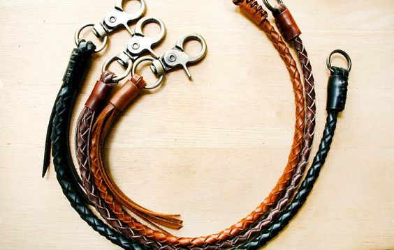 Leder-Lanyard, geflochtene Kette, Geflochtenes Leder Schlüsselanhänger, Leder zu weben, Flechten Lanyard, Leder Kette