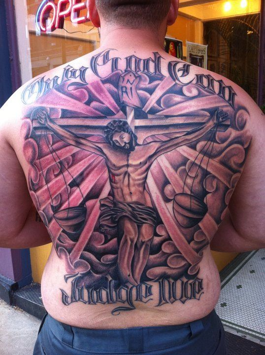 Mens Chest And Back Tattoos