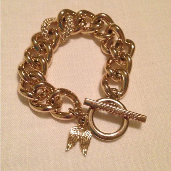 Victoria's Secret Gold Bracelet Chunky gold limited edition VS bracelet. Never worn. Victoria's Secret Accessories