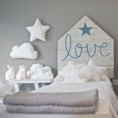 Cabecero Love Azul by Rue Vintage | BelandSoph.com