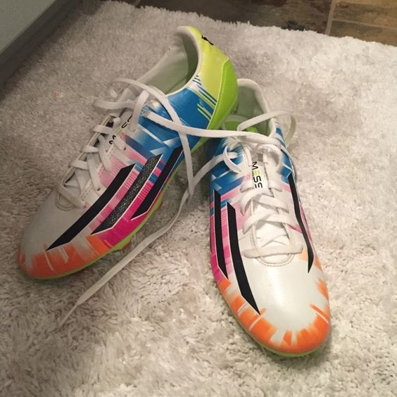 messi cleats NEVER WORN colorful messi cleats size 7 NEVER WORN Adidas Shoes Athletic Shoes