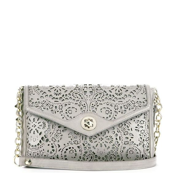 Love this soft Lacy Gray Clutch.