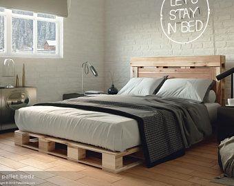 Pallet Bed The Oversized Queen Incluye Cabecera Y Plataforma