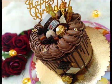 لاير كيك لأعياد الميلاد بطريقة سهلة وبكل المراحل Layer Cake Youtube Desserts Cake Birthday Cake