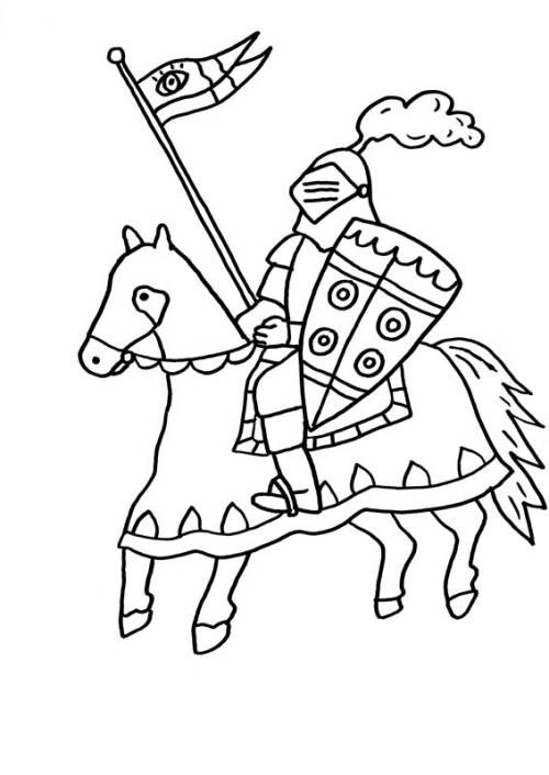 Malvorlage Ritter Auf Pferd Food Ideas Baby Drawing Coloring Pages Middle Ages