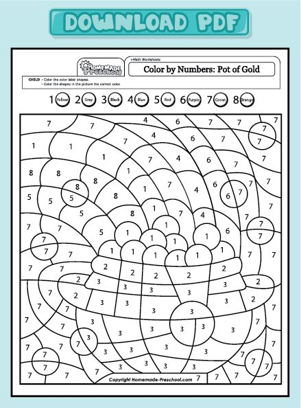 Coloring Pages With Numbers Pdf : Get pdf winter christmas color by number pages for