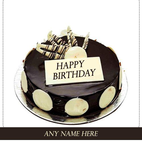 Do You Want To Write Your Name Dark Chocolate Birthday Cake Pics