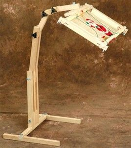 Adjustable craft floor stand quilting sewing embroidery for Floor quilt frame