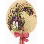 digital download vintage image, fan shaped floral digital download vintage image, free digital image, free printable, free victorian clipart, free vintage image, public domain clipart, victorian floral fan image, vintage clipart