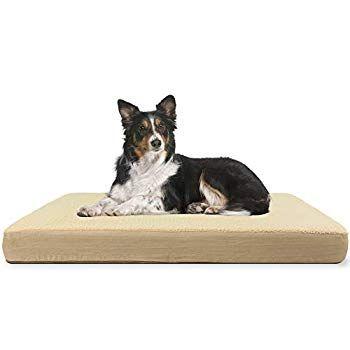 Kundu Rectangular Orthopedic Memory Foam Dog Bed Includes Waterproof Inner Protector And Removable Cover Brown Memory Foam Dog Bed Dog Bed Large Dog Bed