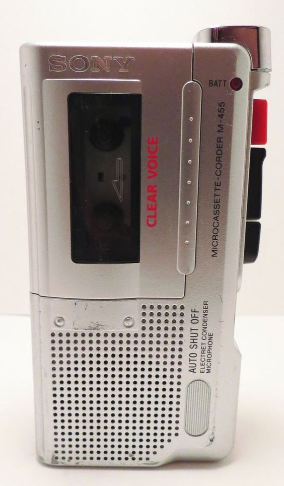 Sony Microcassette Corder M-455 Clear Voice Parts or Repair #Sony