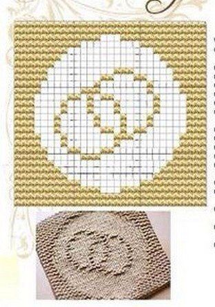 Knitted Dishcloth Patterns Wedding : Wedding ring, Wedding and Knit dishcloth on Pinterest