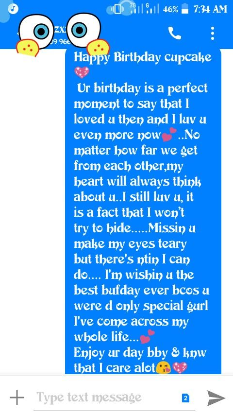 Birthday Text For Ex Or Crush Birthday Wishes Quotes