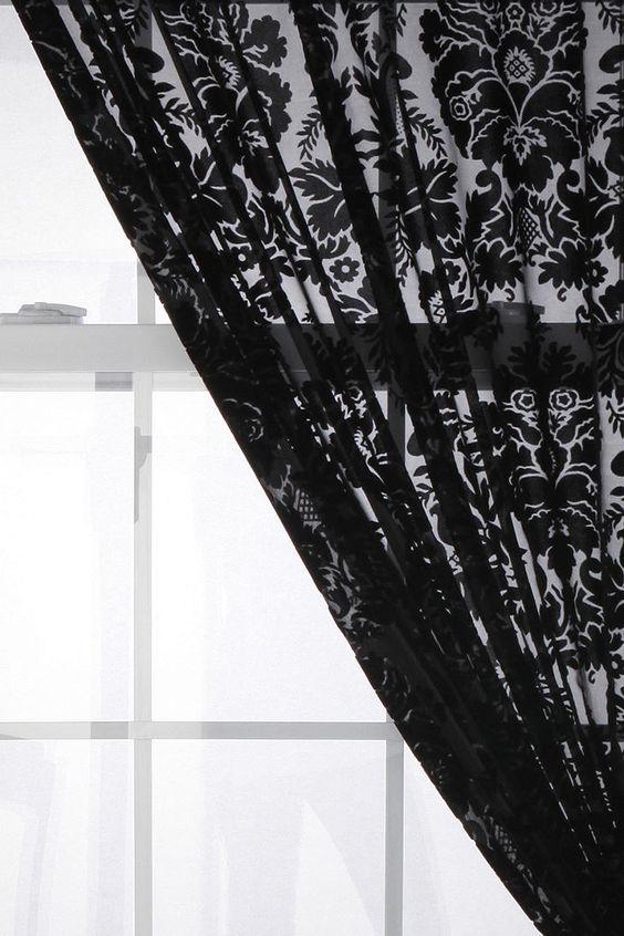 Damask Velvet Burnout Curtain   Pinterest   Urban outfitters ...
