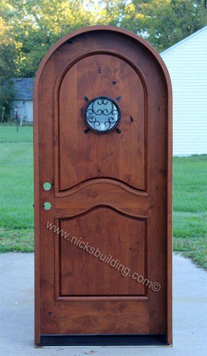Round door with peephole in door bought at www for Round door design