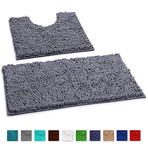 Luxurux Bathroom Rugs Non Slip Super Soft Chenille Luxury Bath Mat