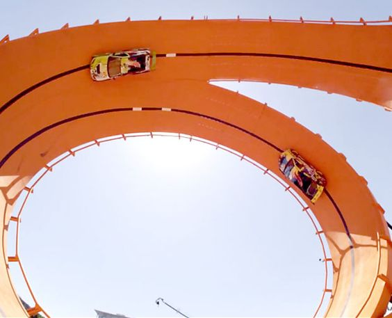 World Record Set on Real Life, 66-Foot Tall, Hot Wheels Double Dare Loop (Video) : Discovery Channel