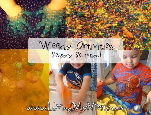 Weekly Activities - Sensory Sensation! @ Loving My Nest