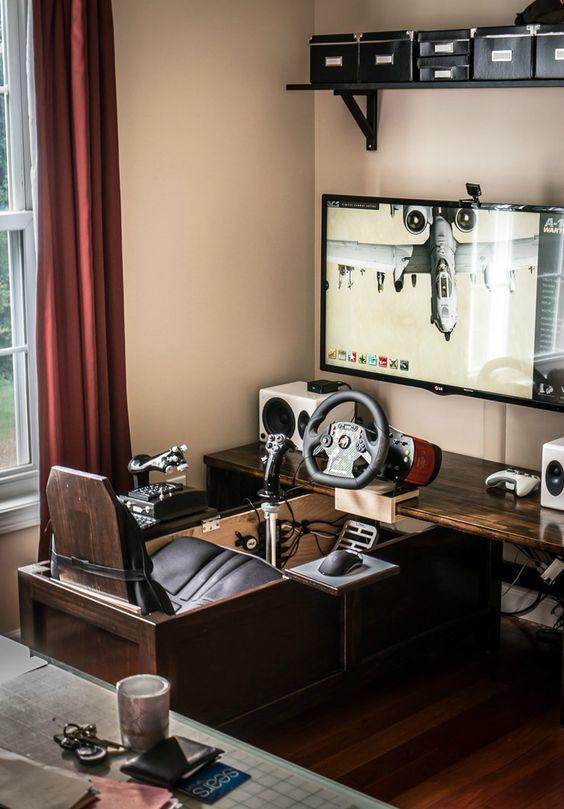 Video Game Room Ideas For Game Lovers Diy Funny Setup Gaming Desk Boys Organization Game Room Design Video Game Rooms Game Room