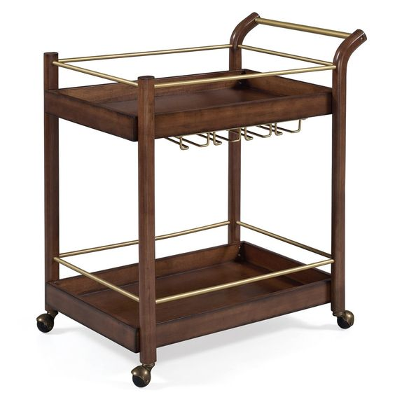 Jasper Laine I Love Living Wood Bar Cart (Chestnut (Brown) Finish), Jasper Laine Studio