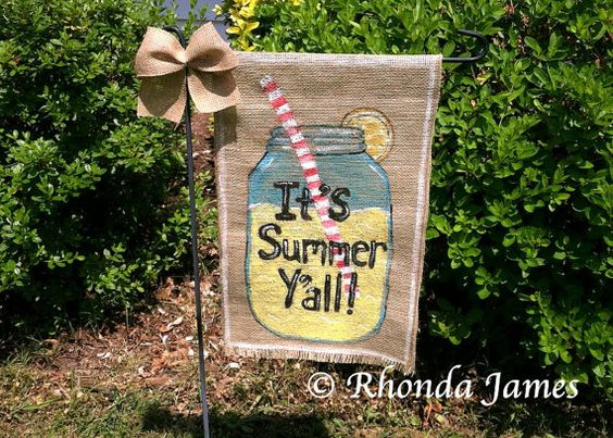 Lemonade It's Summer Y'all Country Mason Jar von rhondajamesart