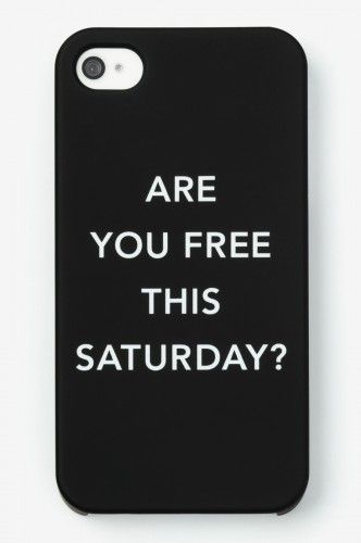 """""""Are you free this saturday?"""" iPhone cover/case"""