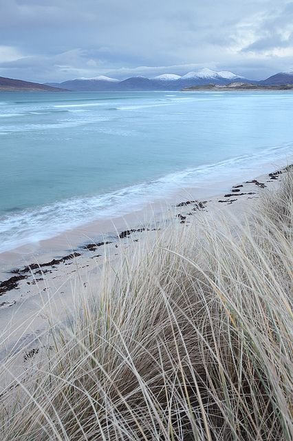 Seilebost in Winter by David Kendal on Flickr. (Harris, Outer Hebrides)