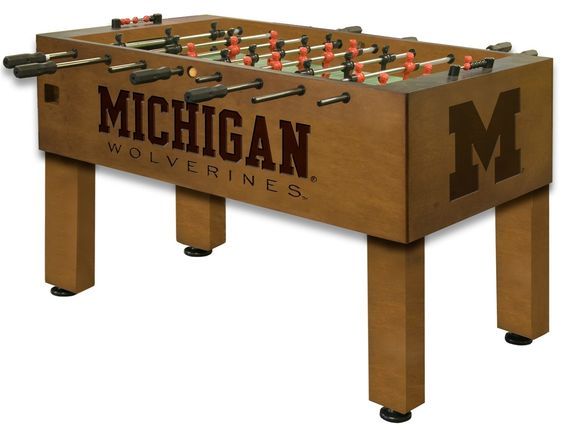 Michigan Wolverines Foosball Table from ManCaveGiant.com