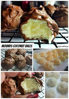 Mounds Coconut Copycat Chocolate Balls!