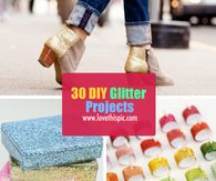 30 DIY Glitter Projects