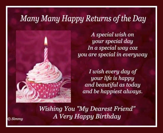 Happy Birthday Special Friend Image By Mary Mendez On Bff Birthday