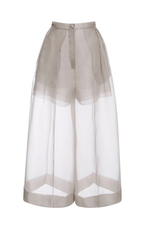 Organza Pant With Side Pleats by DELPOZO - Moda Operandi: